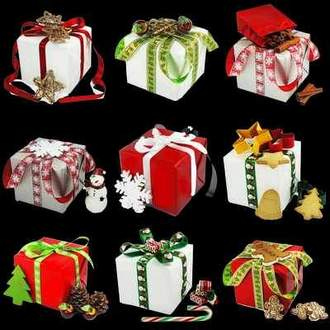 Gifts psd download ( free psd file, transparent background, free download )