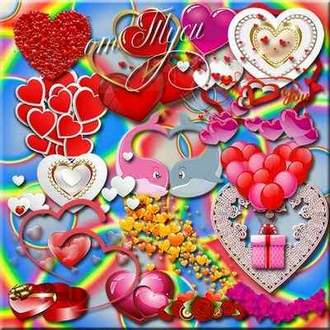Clipart hearts psd ( free psd file, free download )