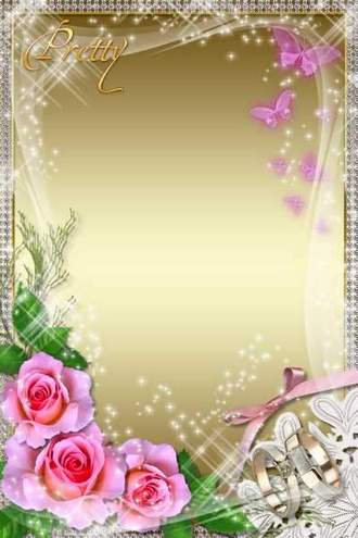 Wedding Photoframe - Pretty Bride ( free Wedding photo frame psd, free download )