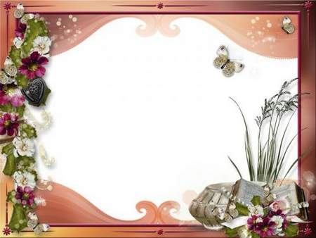 Romantic frame for photo psd