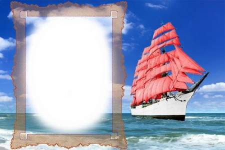 Romantic frame - Red Sails, Assol