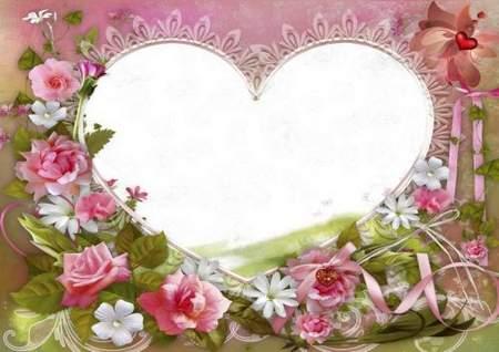 Romantic frame - We are always happy