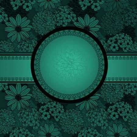 Dark green vintage backgrounds psd
