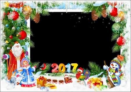 Christmas photo frame for group photos in kindergarten