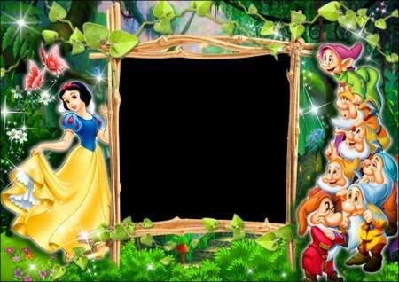 Children photo frame - Snow White and the seven dwarfs