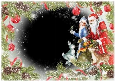 Christmas photo frame psd