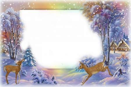 Winter photo frames for Photoshop collages