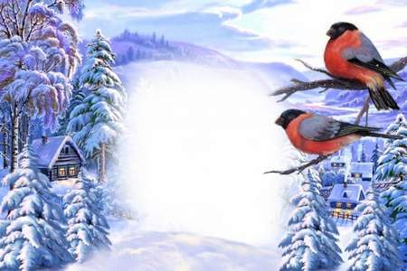 Winter nature psd