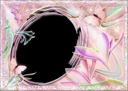 Pink fantasy - photoshop frame template