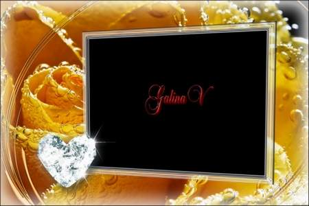 Glamour Photoframe - Yellow Rose Underwater