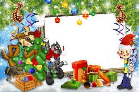 Christmas children's photo frame download ( free photo frame psd, free download )