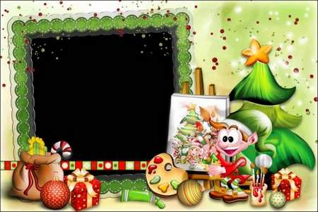 Children's photo Frame download - Come and visit us New year