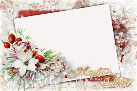 Photo Frame - Winter magic ( free photo frame psd, free download )