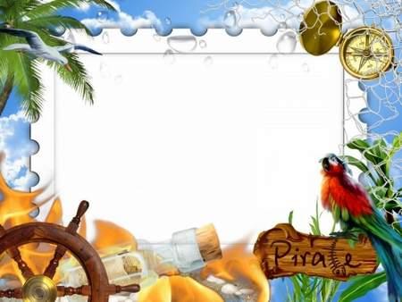 Psd Frame Pirates Transparent Png Frame Psd Layered Photo Frame