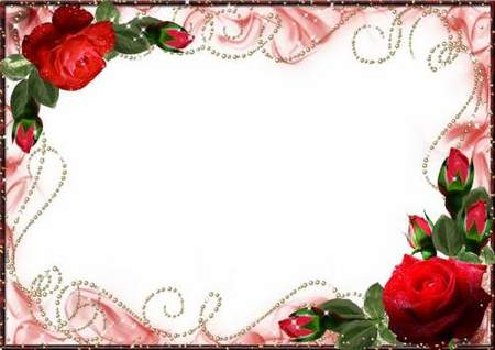 Romantic photo frame - Gentle fragrance of the scarlet roses