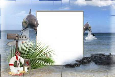 Picture frame - With a dolphin
