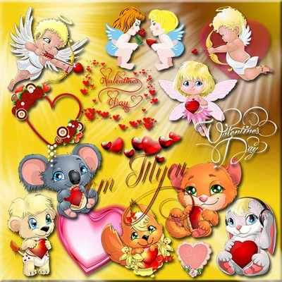 Clipart psd download - Love reigns in all hearts ( free psd file, free download )