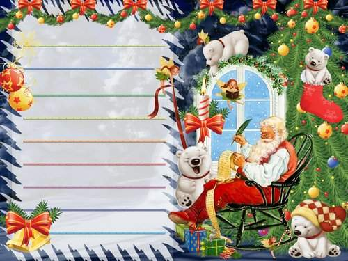 PSD Templates - Letter to Santa Claus and the envelope