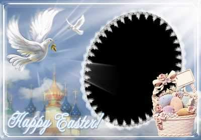 Easter frame - Let joy reign in the hearts (free photo frame psd + free 3 photo frames png, free download)