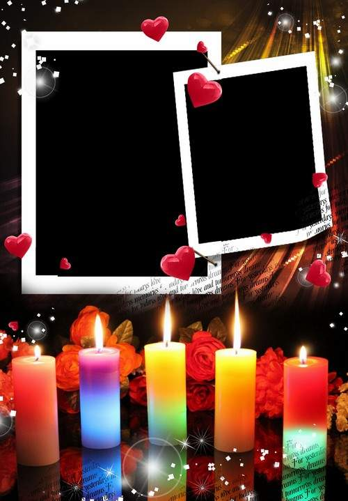 Romantic frame for photo
