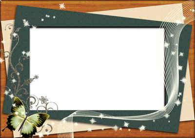 Free psd Frame for photo with butterflies ( free photo frame psd, free download )