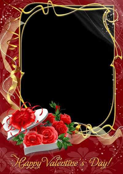 Beautiful frame for Valentine's Day ( free photo frame psd, free download )