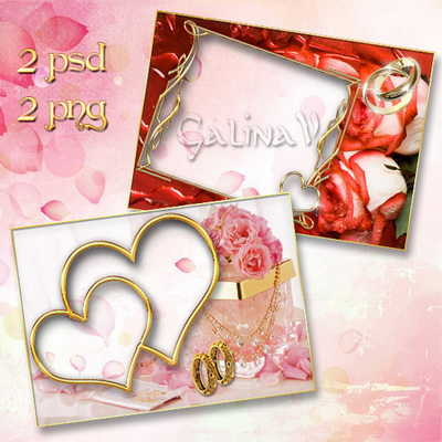 Wedding photo frame - Roses for love by GalinaV