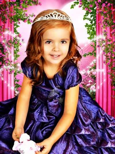 Child's template is Girl Princess psd ( free psd file, free download )