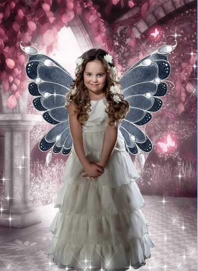 Child's psd template for a girl - Princess fairy ( free psd file, free download )