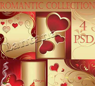 PSD source - Romantic Collection 5 ( free 4 psd file, free download )