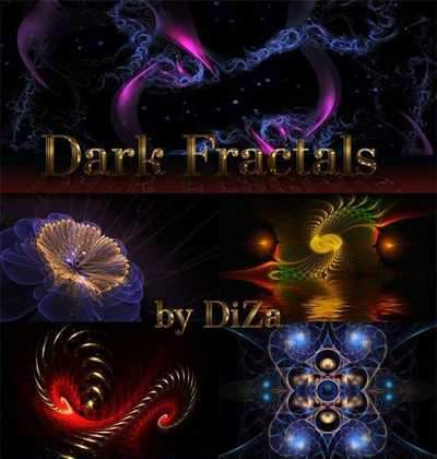 Dark Fractals backgrounds ( free 50 Fractal backgrounds, free download ) - preview - original size