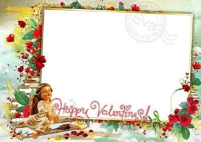 Valentines Photo Frame - My Valentines Day ( free photo frame psd + free 6 photo frames png, free download )
