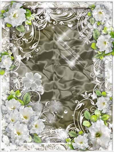 Flower Frame for Photoshop - Gives birth soul, flower unconditional Love ( free photo frame psd, free download )