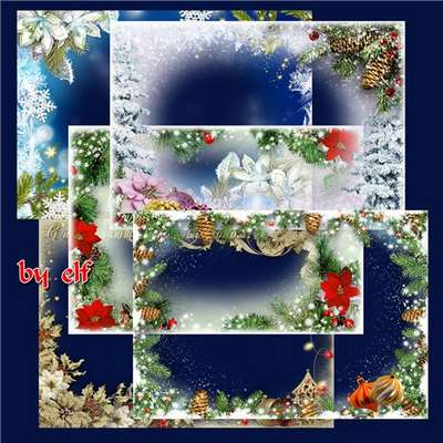 Collection of Christmas photo frames png ( free 7 Christmas frames png, free download )