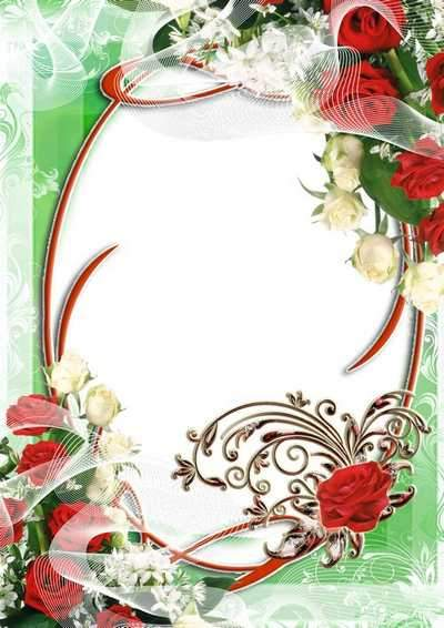 5 Floral frames for photo - Plant a flower ( free photo frames png, free download )
