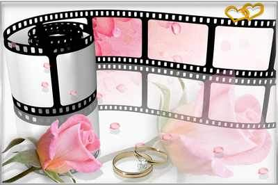 Stylish Photoframe - Wedding Movie ( free Wedding photo frame psd, free download )