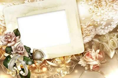 Wedding Vintage photoframe - Retro Style ( free Wedding photo frame psd + png, free download )