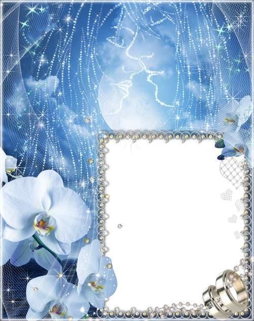 Wedding Frame for Photo - Blue Tenderness ( free Wedding photo frame ...
