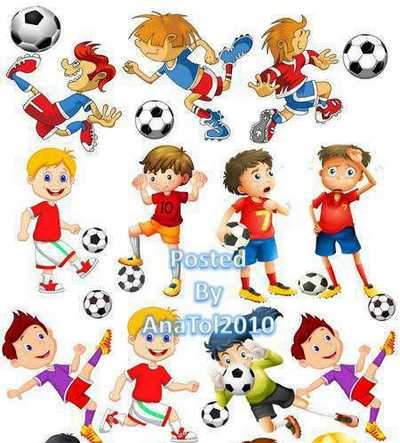Clipart png Children playing football - download