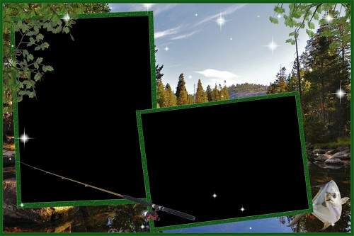 Frame for Photoshop - On fishing