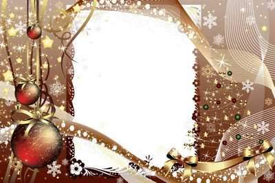 Frame for Photoshop the Christmas mystery ( free photo frame psd, free download )
