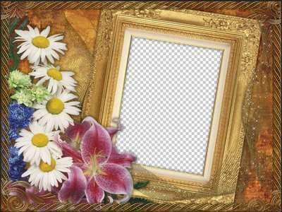 Flower Frame for Photoshop - My secret ( free photo frame psd, free download )