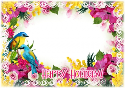 Holiday photo frame psd - Happy Holiday