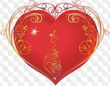 Clipart png - Heart png burns bright