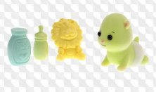 Png Clipart in a transparent background - toys, rattles and other