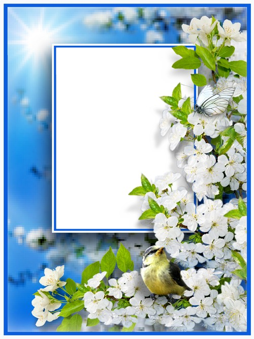 Nature Frame collage psd - Sun and Spring ( free Frame psd download ...