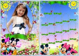 Children Vignette frame for a photo - Mickey Mouse ( free Vignette frame 2 psd, free download )