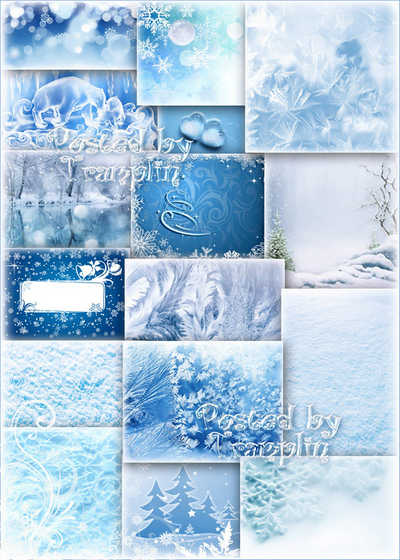 A collection of bright backgrounds - all shades and moments of winter download