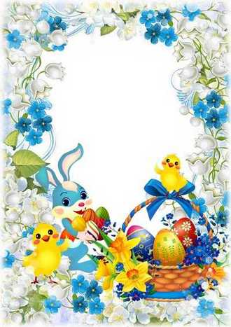 Easter holiday photo frame template download