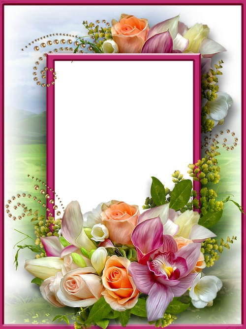 Free Flower Photo Frame for photoshop download - Beautiful Flowers ...
